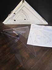 "Alvin 10"" verstellbare Dreieck mit Freihand Edge Computing Trig Skala Nr. lx710k"