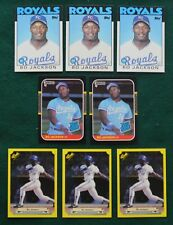 Bo Jackson rookie card lot (8) Mint - 1986 Topps & 87 Donruss Classic Royals RC