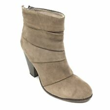 Women's Steve Madden Arrena Western Ankle Boots Shoes Size 8 M Brown Suede AD12