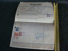 FATTURA OLIVETTI 1941 MACCHINA PER SCRIVERE TYPEWRITER OLD ITALY EPOCA