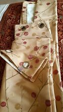 Dunelm  Pair Of lined Eyelet Curtains Width132x228cm drop  beige pink gold excon