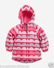 Muddy Puddles Girls Pink Wave Waterproof Pac a Mac Jacket 11-12 Years