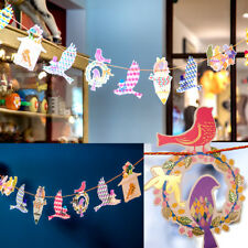 Colorful Bird Bunting Garland Party Hanging Banner Garden Tea Party Decoration