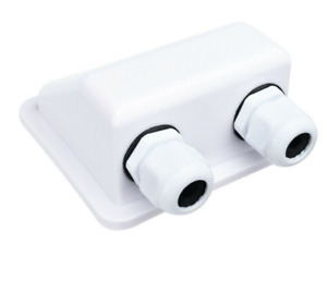 Double Cable Entry Gland WHITE Solar Panel Motorhome Camper Caravan Boat