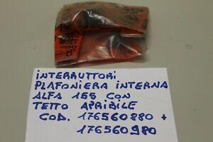 ALFA ROMEO 155 INTERRUTTORE LUCE PLAFONIERA CON TETTO APRIBILE COD. 176560880