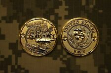 Challenge Coin NEW US Navy We Own The Seas Gold & Silver - New Listing