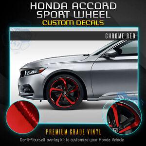For 2018-2020 Honda Accord Sport Wheel Chrome Delete Vinyl Kit - Chrome Mirror