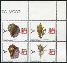 Macau Macao 1991 Schneckenhäuser Shells Meerestiere 672-75 Postfrisch MNH