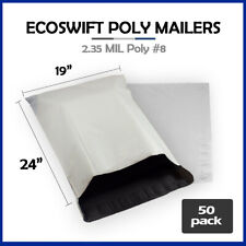 50 19x24 Ecoswift Poly Mailers Large Plastic Envelopes Shipping Bags 235mil