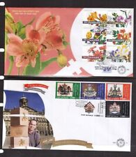 NETHERLANDS 2003 Flowers + 2007 royalty sets on two FDC