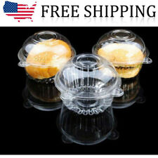 Clear Plastic Single Cupcake Cake Case Muffin Pod Dome Holder Box 100Pcs/Set US