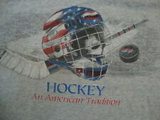 Hockey, An American Tradition NHL Athletic Exercise Grey T Shirt Mens Size L