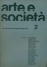 ARTE E SOCIETA'. Anno IV, N 2 (nuova serie), giugno-luglio 1975
