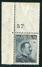 1911 Regno Italia 15 cent. grigio nero effige numero di tavola spl MNH **