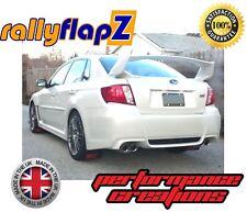rallyflapZ SUBARU IMPREZA Sedan (10-14) Mud Flaps Kit Black STi Pink 4mm PVC