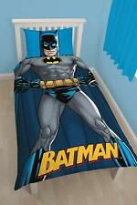 OFFICIAL DC SUPERHEROES BATMAN SHADOW SINGLE DUVET COVER SET KIDS BEDDING