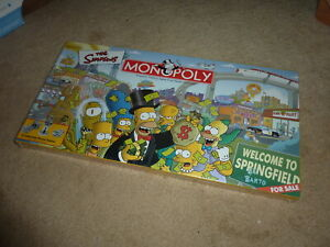 The Simpsons Monopoly Board Game 2001 Parker Brothers Hasbro NEW SEALED