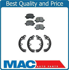 For 2000-2002 Toyota Corolla Front Ceramic Pads & Rear Organic Brake Shoes