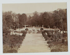 ANTIQUE ALBUMEN PHOTO, PALACE GARDEN, TORINO, ITALY.