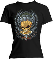 FIVE FINGER DEATH PUNCH Trouble WOMENS GIRLIE T-SHIRT OFFICIAL MERCHANDISE
