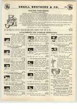 1939 PAPER AD Sunbeam Electric Food Mixer Mixmaster GE Kingston Coffee Maker