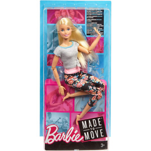Barbie Made to Move Blonde Yoga Doll FTG81
