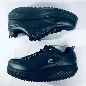 SKECHERS Women's  Black Work Shape Ups Shoes Memory Foam 76557 / Sz 10 Wide