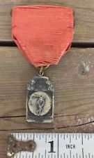 1940's New England Prep Schools Track Association Discus Medal Sterling Silver