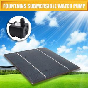 Solar Panel Power Fountain Garden Pond 180L/H Pump Kit Garden Pool Pond Aquarium