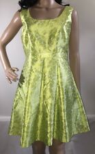 NWT Minuet Dress Medium Lime Green White Floral Summer Wedding Party Gown