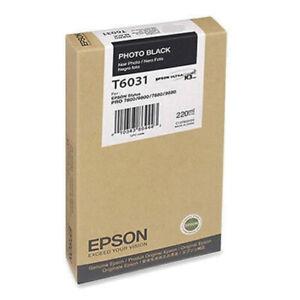 Epson Ink T6031 Photo Black 220ml For Stylus Pro 7880 & 9880 - Expired 03/2018