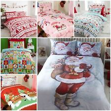Christmas Duvet Cover & Pillowcase Sets:Santa,Penguins,Reindeer,Snowman & More