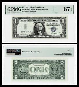 **STAR **FR.#1619* 1957 $1 SILVER CERTIFICATE BANKNOTE~ ~PMG  GEM UNC 67 EPQ