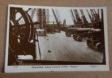 Postcard HMS Victory quarterdeck Real photo unposted.