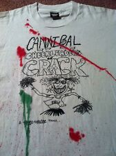 VTG 80s 90s Cannibal Cheerleaders CRACK Shirt PUNK cult Play funny DRUGS Hipster