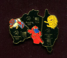 2000 OLYMPIC UPS MAP OF AUSTRALIA 3 PIN SET WITH MASCOTS PIN