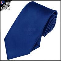 MENS NAVY BLUE 8.5CM TIE necktie dark wedding plain formal men's
