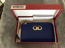 """Salvatore Ferragamo """"Zaffiro Viola"""" clutch mini bag certificate original box NWT"""