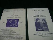 Vintage Programs MURIEL STAFFORD - Your Handwriting 1941 Analysis Brochure -RARE