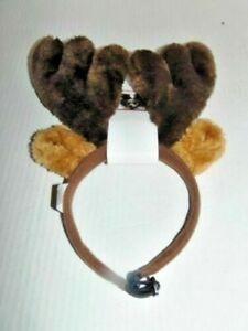 (NEW) PET Reindeer ANTLERS Christmas Headband DOG COMPANION GEAR ADJUSTABLE