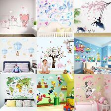 Wandtattoo Kinderzimmer Junge Mädchen Wandsticker Wandaufkleber XXL Tiere Baum