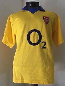 Arsenal Gunners Men's Yellow (Blue Collar) O2 Soccer Football XXL Jersey