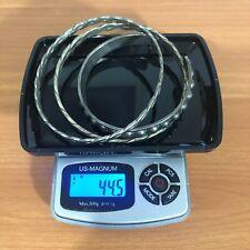 3 Signed MEXICO Sterling Silver Bangle Bracelets TS-99 TAXCO ~ 44.5 Grams 1.4 oz