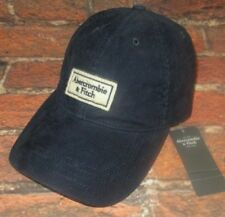 MENS ABERCROMBIE & FITCH NAVY BLUE CORDUROY HAT STRAPBACK CAP ONE SIZE