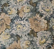 The Way We Were BTY Jinny Beyer for RJR Dusty Blue Mums Floral Flowers