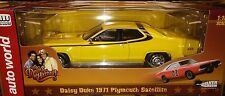 Dukes of Hazard Daisy 1971 Plymouth Satellite Diecast Car 1:18 Auto World 10inch