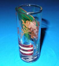 """""""Puerto Rico"""" Hand-Painted With Flag & Frog On A 3-5/8"""" Shot Glass Made In Peru"""