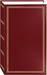 "3-Ring Pocket Burgundy Picture Album 504 Photos 4""x6"" – Memory Family Organizing"