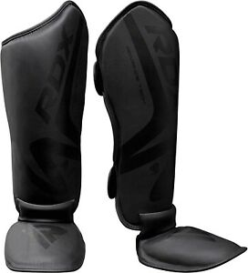 RDX 176663 Unisex Shin Guards for MMA Kickboxing Training Instep Leg Size Large