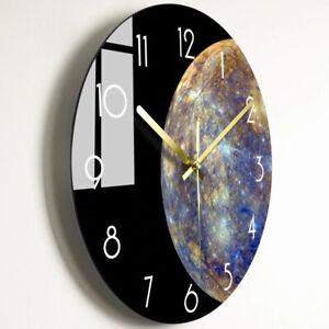 Creative Modern Luxury Silent Wall Clock Living Room Glass Clocks Home Decor